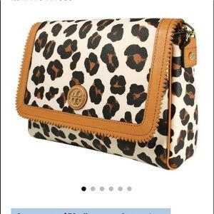 Tory Burch Kerrington Ocelot Leopard Purse bag